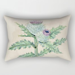 Downy thistle Rectangular Pillow