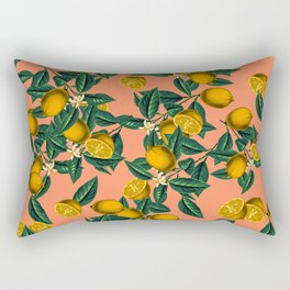 Lemon and Leaf Rectangular Pillow