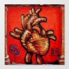 graffiti native heart Canvas Print