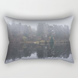 Fog and reflections. Tarn Hows, Cumbria, UK. Rectangular Pillow