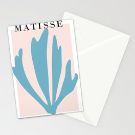 Henri matisse baby pink and sky blue art print, modern home decor Stationery Cards