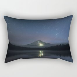 Lights on Mount Hood Rectangular Pillow