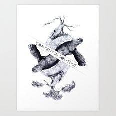 Content in Solitude Art Print