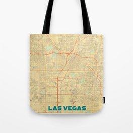 Las Vegas Map Retro Tote Bag