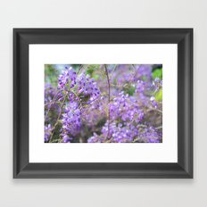 Bees and lilacs Framed Art Print