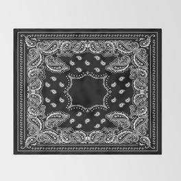 Bandana Black & White Throw Blanket