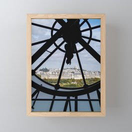 Giant clock at the Musee d'Orsay Framed Mini Art Print