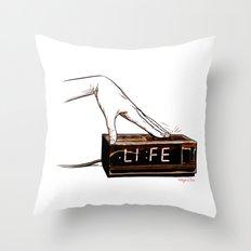 Life on snooz Throw Pillow