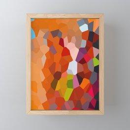 Pixelated Lanterns in Joy and Orange Framed Mini Art Print