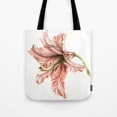 Pink Lily Flower Watercolor Tote Bag