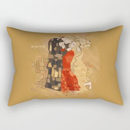 The Invention of the Kiss Rectangular Pillow