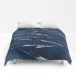 Cobalt Blue Abstract Comforters