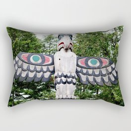 Alaskan Totem - Eagle Rectangular Pillow