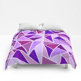 Purple Shards Geometric Pattern Comforters