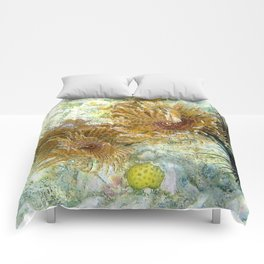 Watercolor Magnificent Feather Duster Comforters