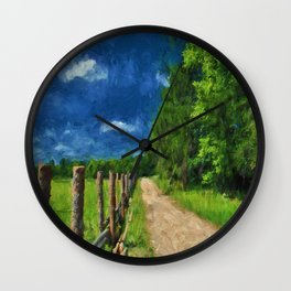 Country Fences 4 Wall Clock