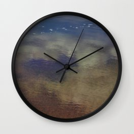 Clouds in the Sand at Widemouth Bay Wall Clock