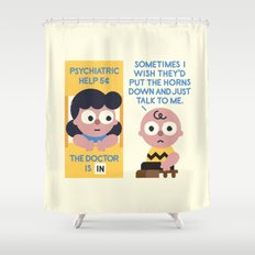 Muted Affection Shower Curtain