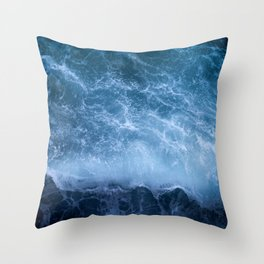 Waves from above Throw Pillow