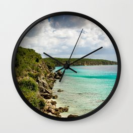 Tropical Coast Wall Clock