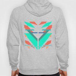 Neon Grapefruit and Electric Mint Shapes Doubled Hoody