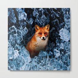 Cold as Fox Metal Print