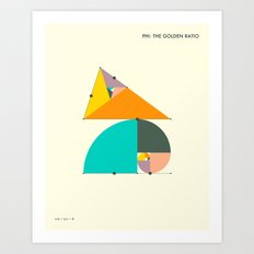 Phi: The Golden Ratio Art Print