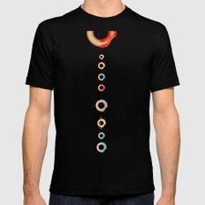 Solar System Donuts MEDIUM Black Mens Fitted Tee