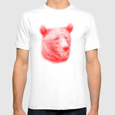 Brown bear is red and pink White MEDIUM Mens Fitted Tee
