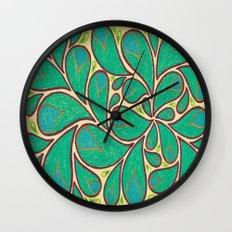 Gold Petals 2 Wall Clock