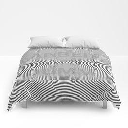 ARBEIT MACHT DUMM illusion Comforters