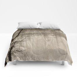 Tree Art In Wood Emulsion Comforters