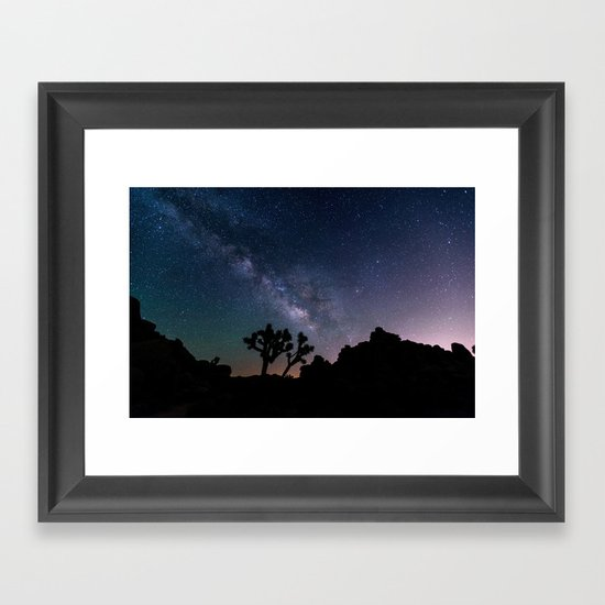 Desert Night Sky Starry Night Photography Framed Art Print