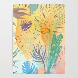 Desert Sun Pattern Poster