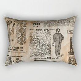 Old Vintage Advertising Rectangular Pillow