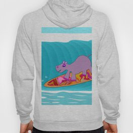 Just Like Momma - Hippos Surfing Hoody