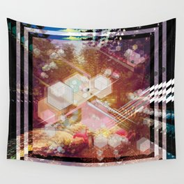 GEOMETRIC MIAMI NIGHT Wall Tapestry