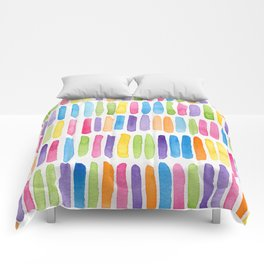 Colorful Dashes Comforters