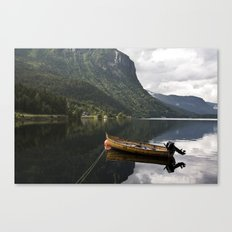 Silent sea with boat Canvas Print