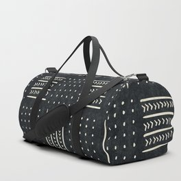 Mud cloth in black and white Duffle Bag
