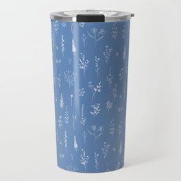 Wildflowers blue Travel Mug