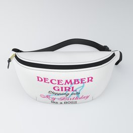 December Girl Birthday Fanny Pack