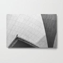 A Bird On the Lotus Temple Metal Print