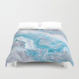 Ocean Foam Mermaid Marble Duvet Cover