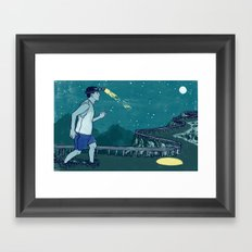 Late Night Relay Framed Art Print