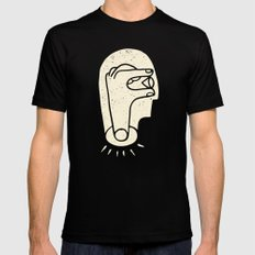The Creative Mind MEDIUM Black Mens Fitted Tee