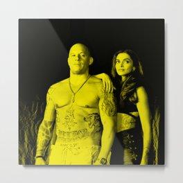 Win Diesel with Dipika Padukone - Celebrity (XXX Movie Star) Metal Print