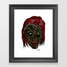 Heads of the Living Dead Zombies: Was Woman Zombie Framed Art Print