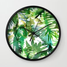 VIBE of the Jungle  {A-green} Wall Clock
