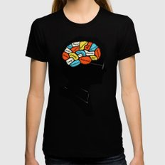 Harry Black MEDIUM Womens Fitted Tee